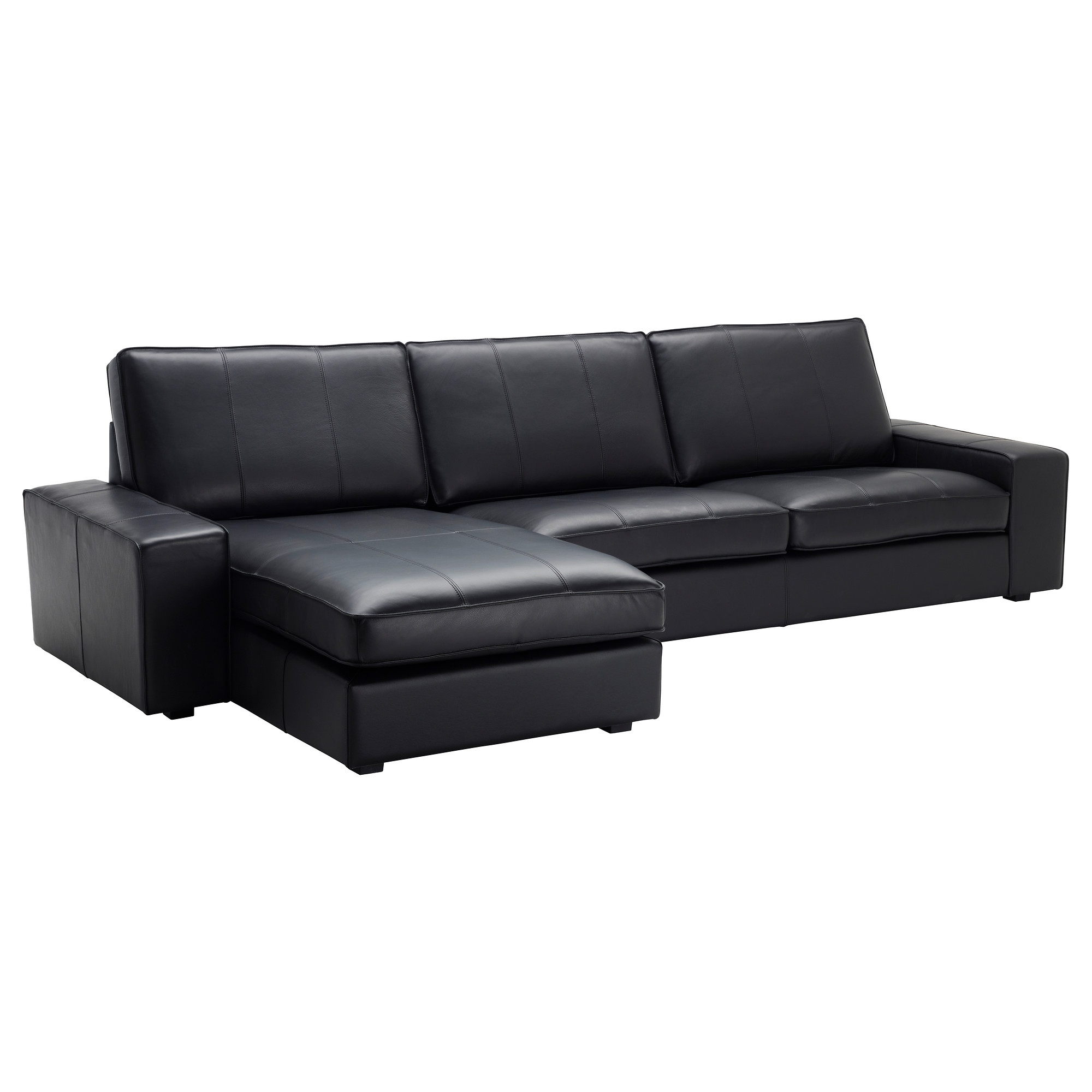 Ikea Chaise Lounges Intended For Most Popular Kivik Sectional, 4 Seat – With Chaise/grann/bomstad Black – Ikea (View 7 of 15)