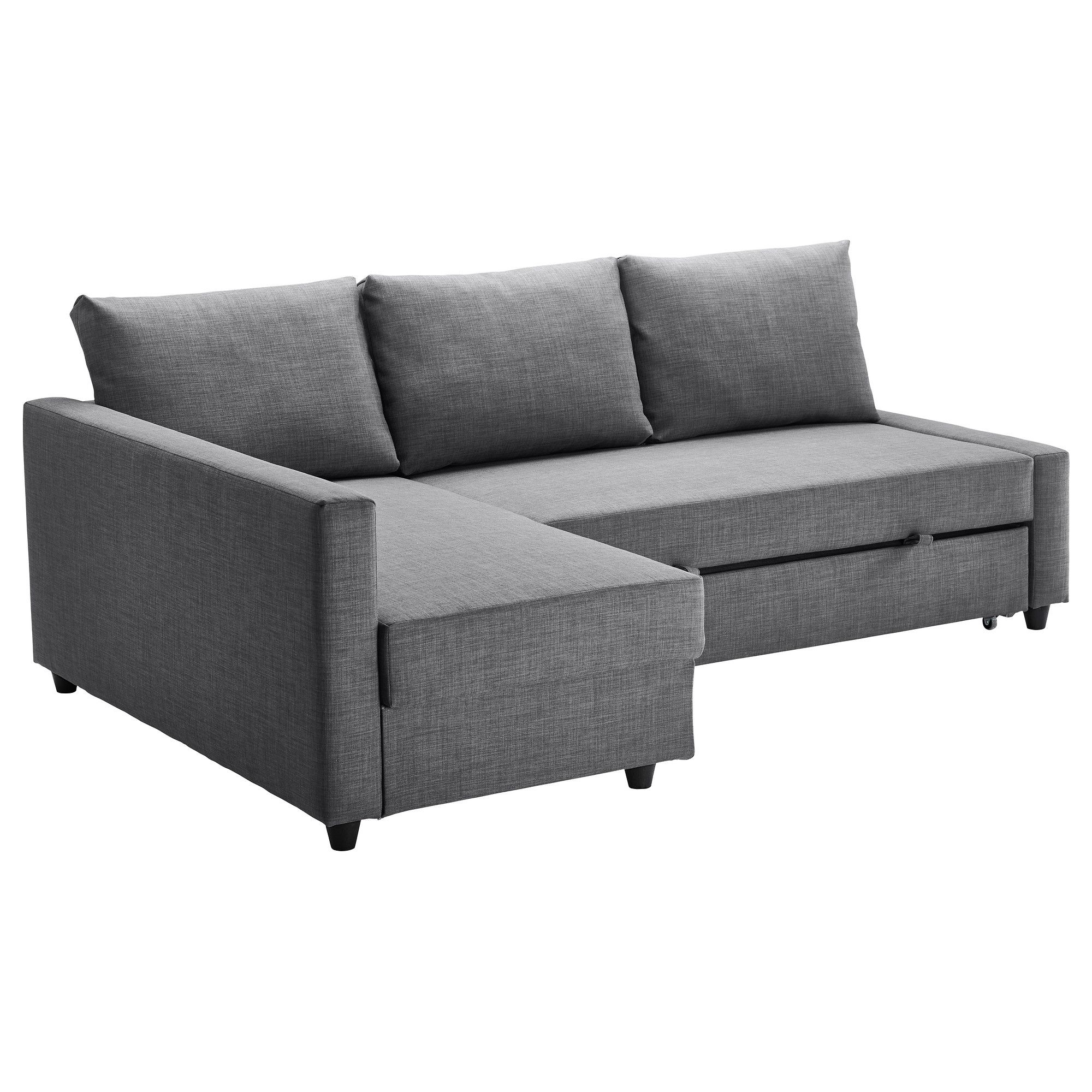Ikea – Friheten, Sofa Bed With Chaise, Skiftebo Dark Gray, , , You Pertaining To Best And Newest Sleeper Sofas With Chaise (View 6 of 15)