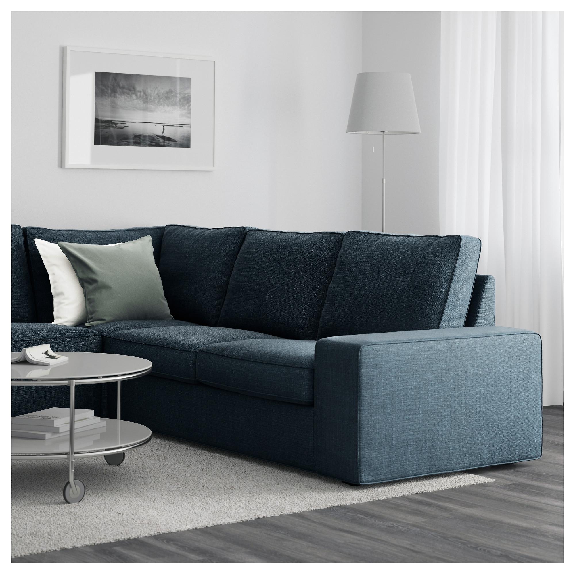 Ikea Kivik Chaises Inside 2017 Kivik Sectional, 5 Seat Corner – Hillared Dark Blue – Ikea (View 6 of 15)