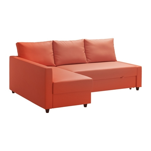 Ikea Sectional Sofa Beds With Regard To Recent Friheten Sleeper Sectional,3 Seat W/storage – Skiftebo Dark Orange (Gallery 5 of 10)