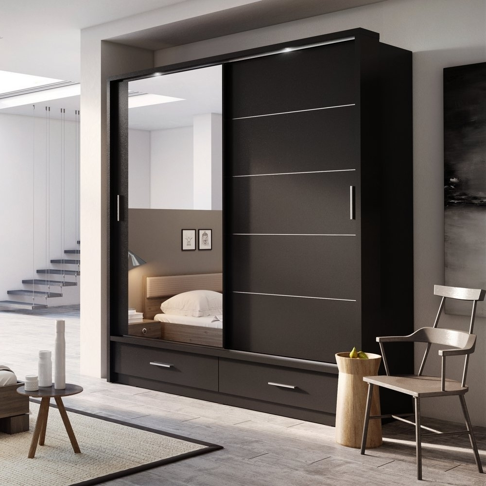 Ikea Wardrobe Sliding Door Problem Doors Perth Walnut Wardrobes Pertaining To Preferred Wardrobes With Mirror (View 5 of 15)