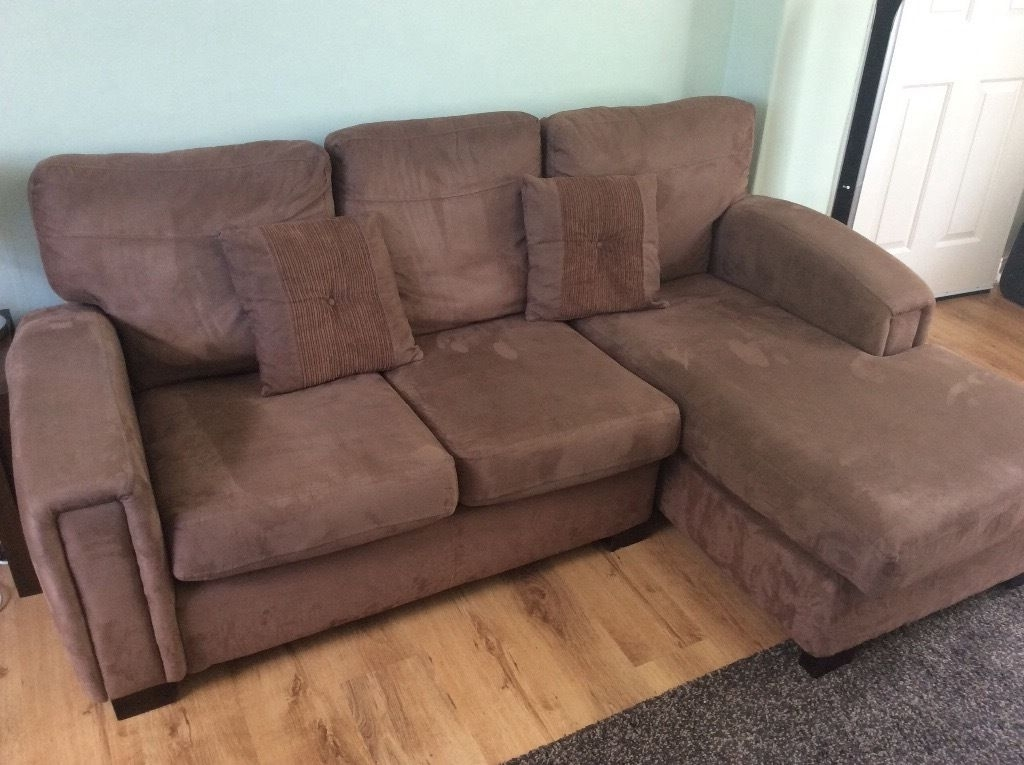 In Dewsbury, West Inside Faux Suede Sofas (View 2 of 10)