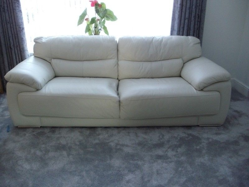 In Intended For Off White Leather Sofas (Gallery 10 of 10)