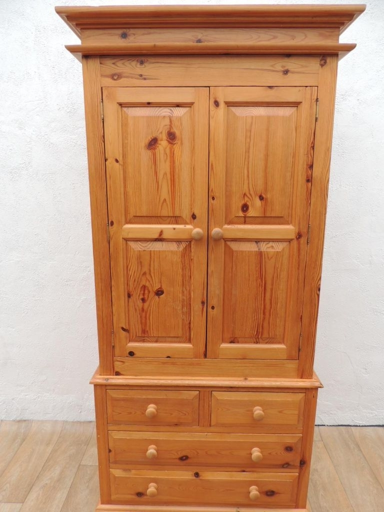 In Regarding Pine Wardrobes With Drawers (Gallery 2 of 15)