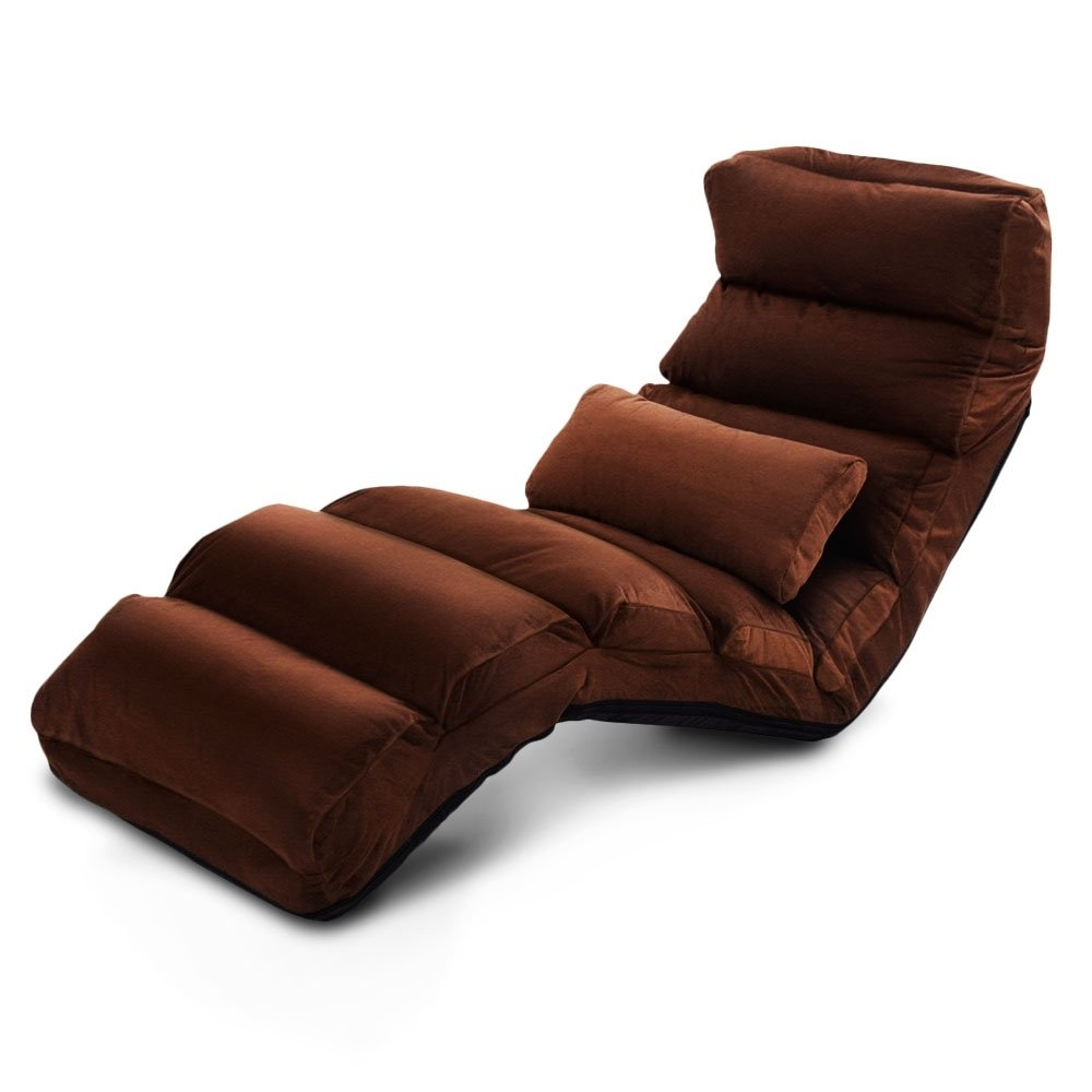 Indoor Chaise Lounge Convertible Lazy Sofa Chair Recliner Folding For Fashionable Chaise Lounge Recliners (View 8 of 15)