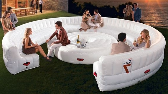 Inflatable Sofas And Chairs In Well Known Beach7 Airlounge Xl Is A Party Sized Inflatable Couch (Gallery 4 of 10)