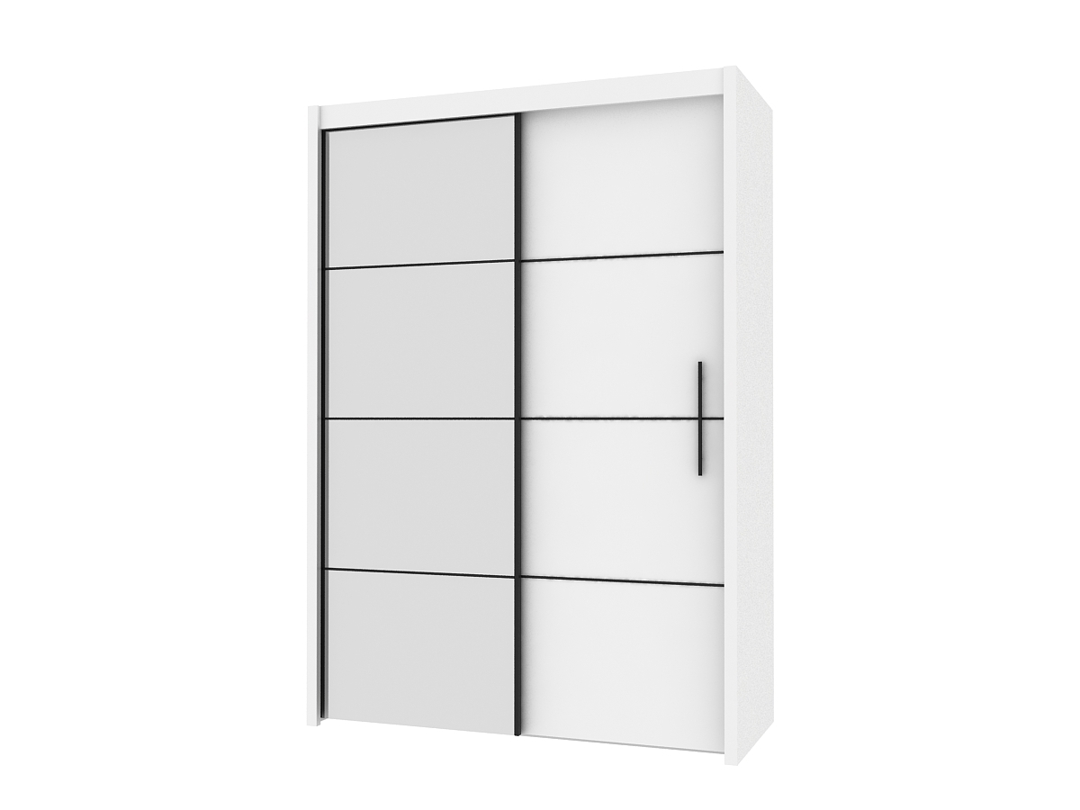 Inova White 2 Door Sliding Door Wardrobe Slider 120Cm P4Ru4112 Intended For Popular Wardrobes With 2 Sliding Doors (Gallery 14 of 15)