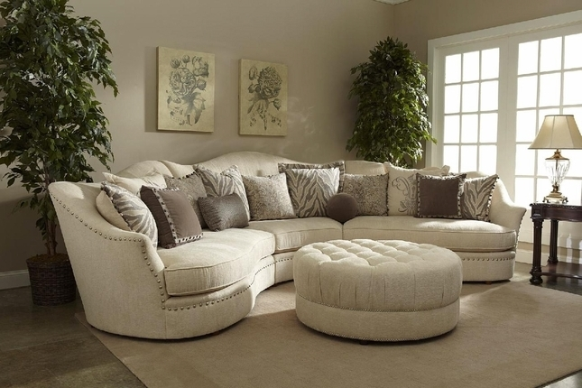 Ivory Sectional Sofa (Gallery 4 of 10)