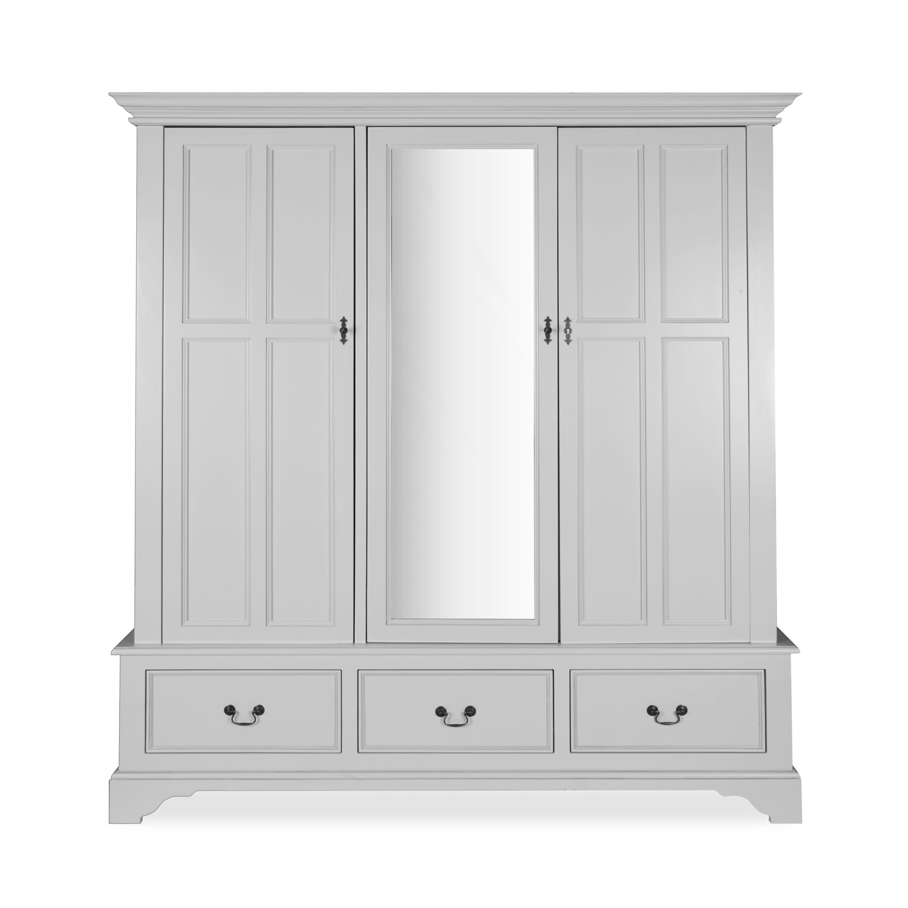 Ivory Wardrobes With Regard To Widely Used Made To Order Furniture – Clifton Dove Grey 3 Door Wardrobe (Gallery 8 of 15)