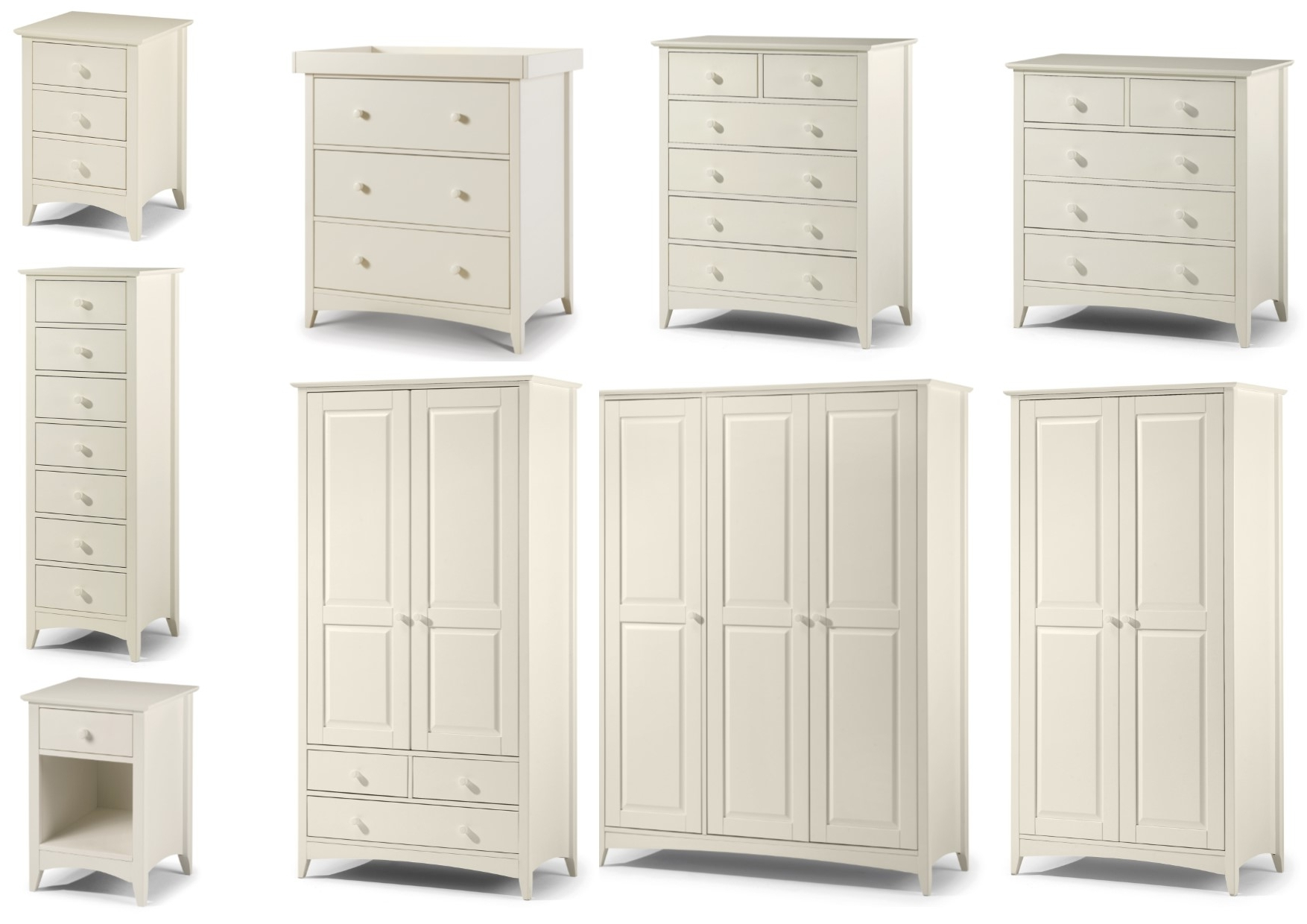 Julian Bowen Cameo Stone White Bedroom Range – Bedside Drawers In Well Known Julian Bowen Wardrobes (Gallery 9 of 15)
