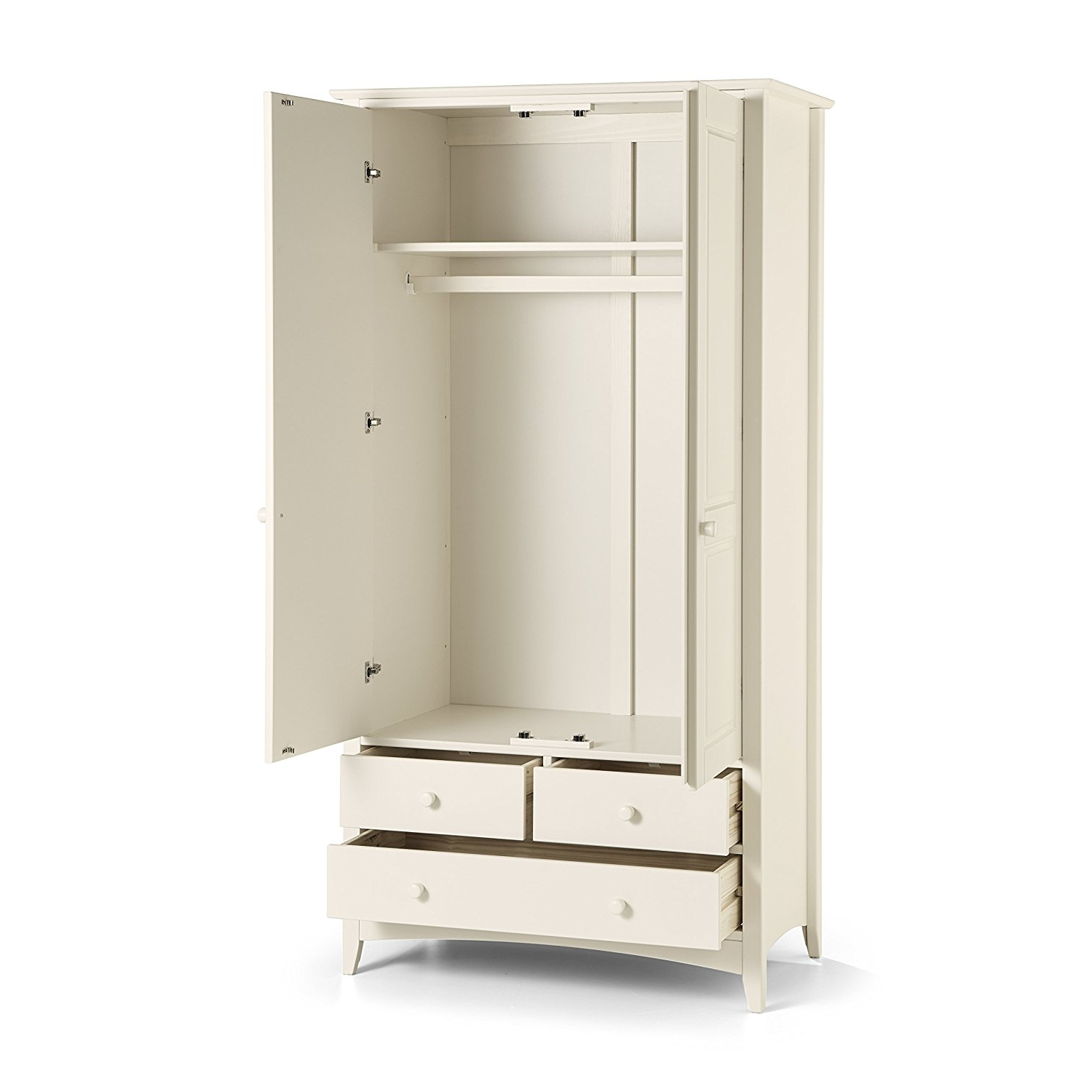 Julian Bowen Cameo Wardrobes With Popular Julian Bowen Cameo Combination Wardrobe, Stone White: Amazon.co (View 9 of 15)