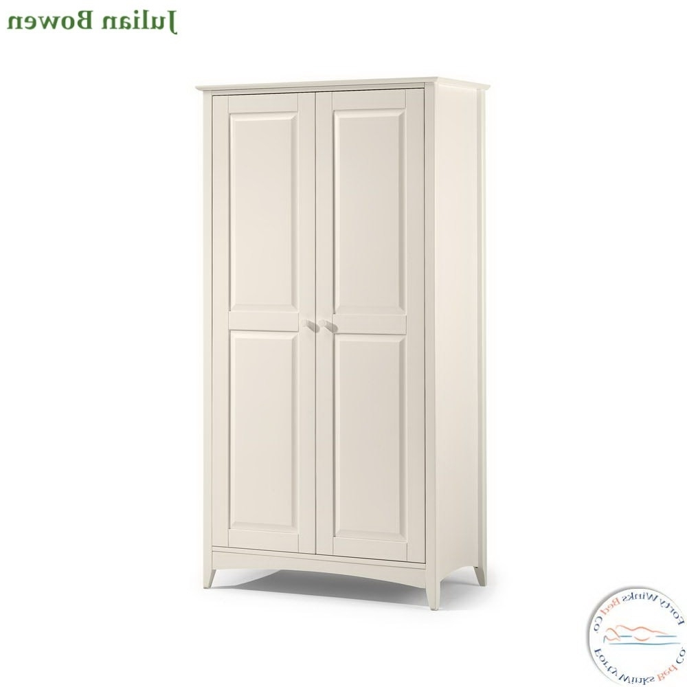 Julian Bowen Cameo Wardrobes Within Latest Julian Bowen Cameo 2 Door Wardrobe In Stone White (Gallery 1 of 15)