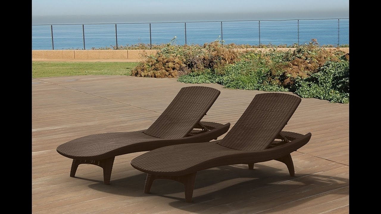 Keter Chaise Lounges For 2017 Review: Keter Pacific 2 Pack All Weather Adjustable Outdoor Patio (View 6 of 15)