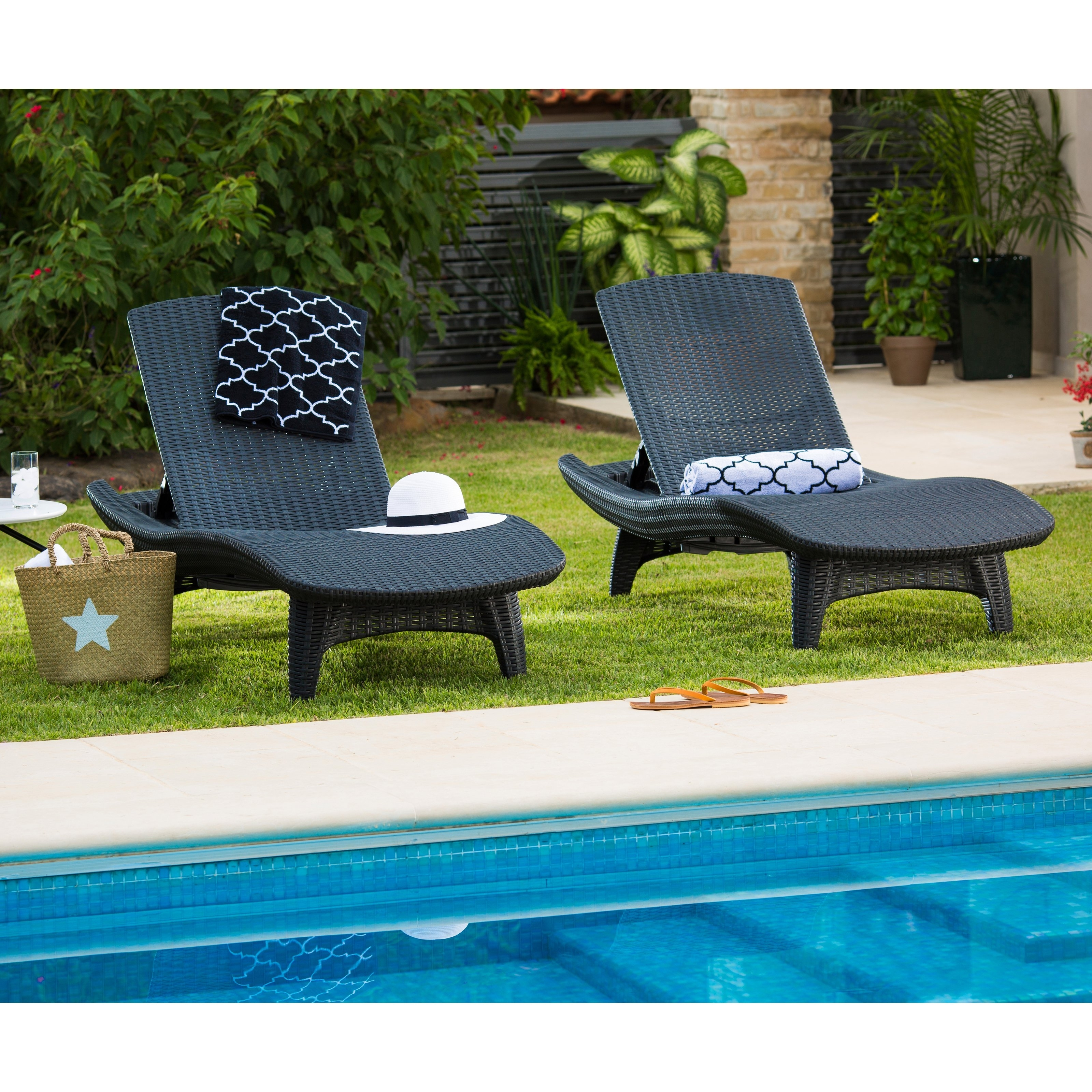 Keter Chaise Lounges Pertaining To Well Liked Keter Outdoor Chaise Lounge – Set Of 2 (Gallery 1 of 15)
