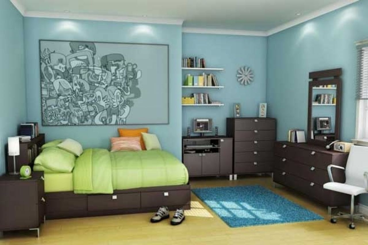 Kids Bedroom Furniture With Slide Beside Cupboard Near Study Room Within Favorite Bed And Wardrobes Combination (View 10 of 15)