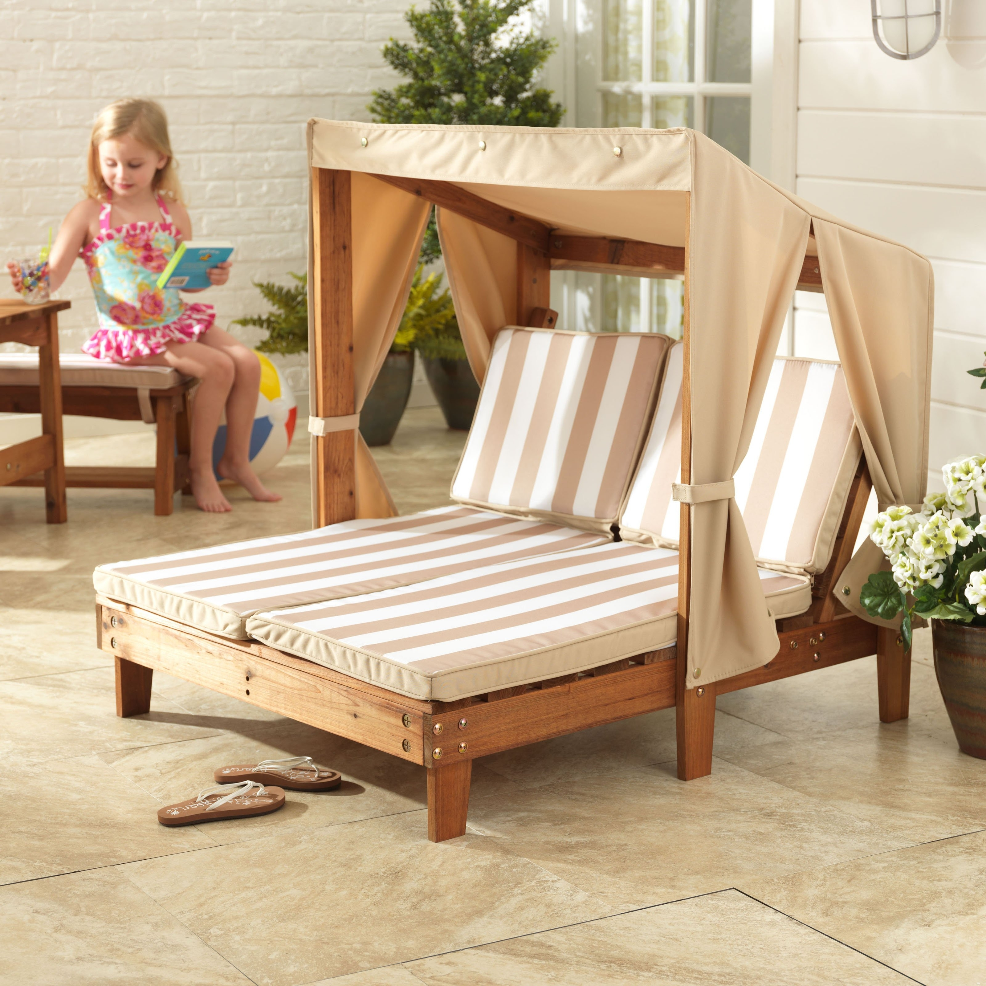 Kids Chaises With Current Kidkraft Double Chaise Chair – 502 – Walmart (Gallery 11 of 15)