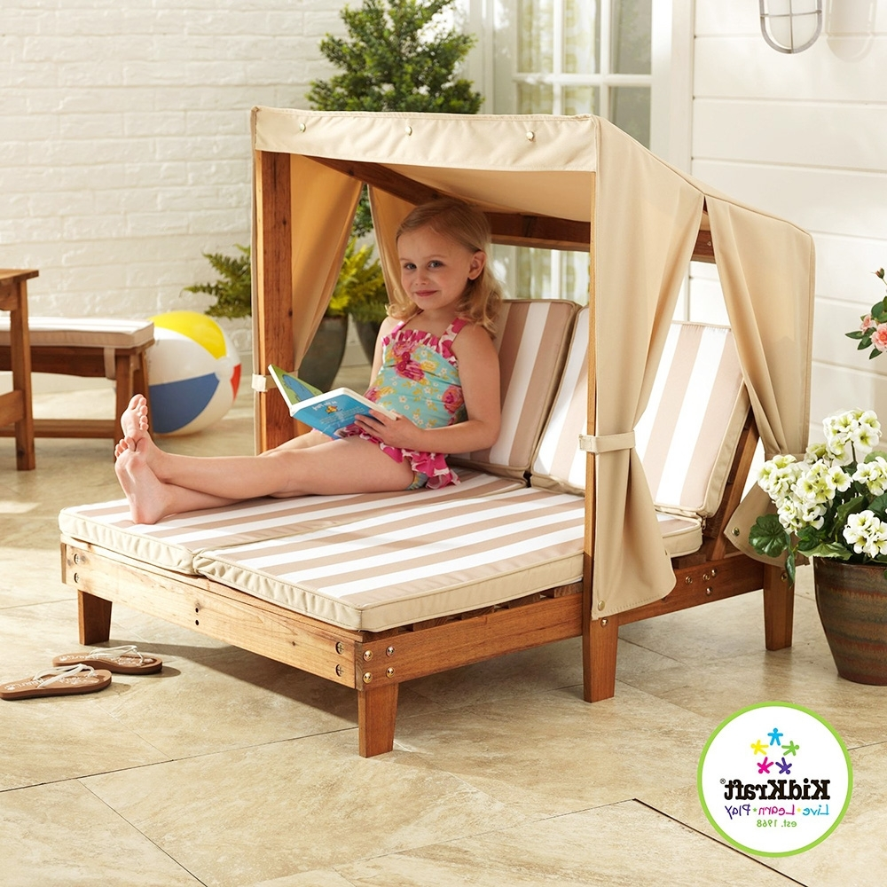 Kids Double Loungekidkraft – Adorable Home Intended For Current Kidkraft Double Chaise Lounges (View 9 of 15)