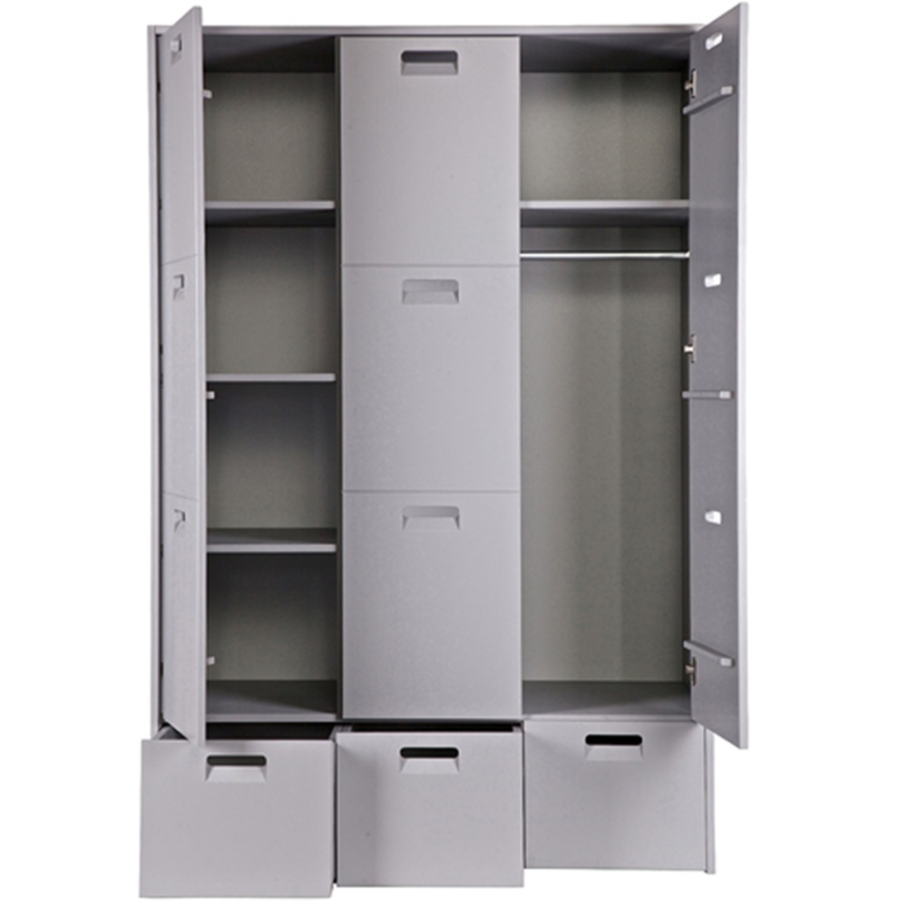 Kids Pine Wardrobes For Trendy Kids Pine Locker Wardrobe Store In Grey (View 5 of 15)