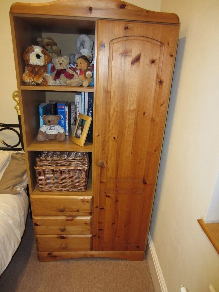 Kids Pine Wardrobes With Trendy Pine Bedroom Furniture Wardrobe, Chest Of Draws & Pine Mirror (View 6 of 15)