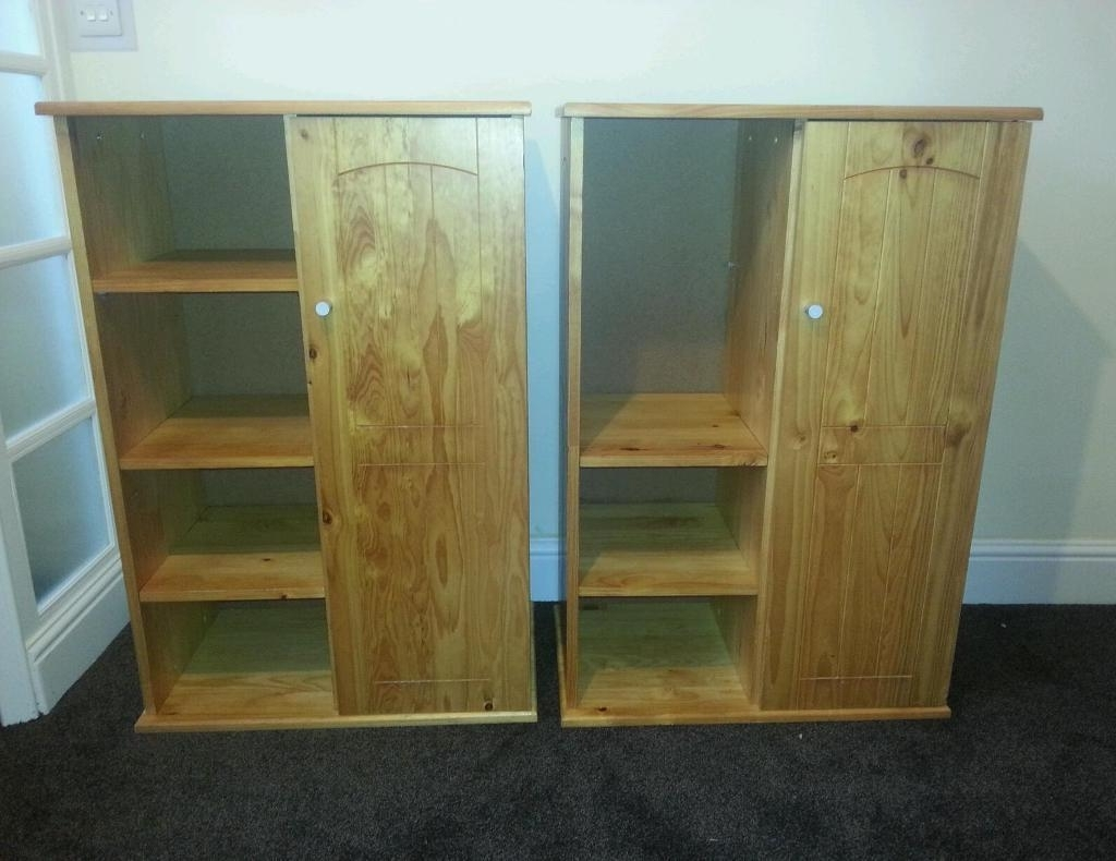 Kids Solid Pine Short Wardrobes With Shelf Storage X 2 – Height 45 Within Most Current Short Wardrobes (View 5 of 15)