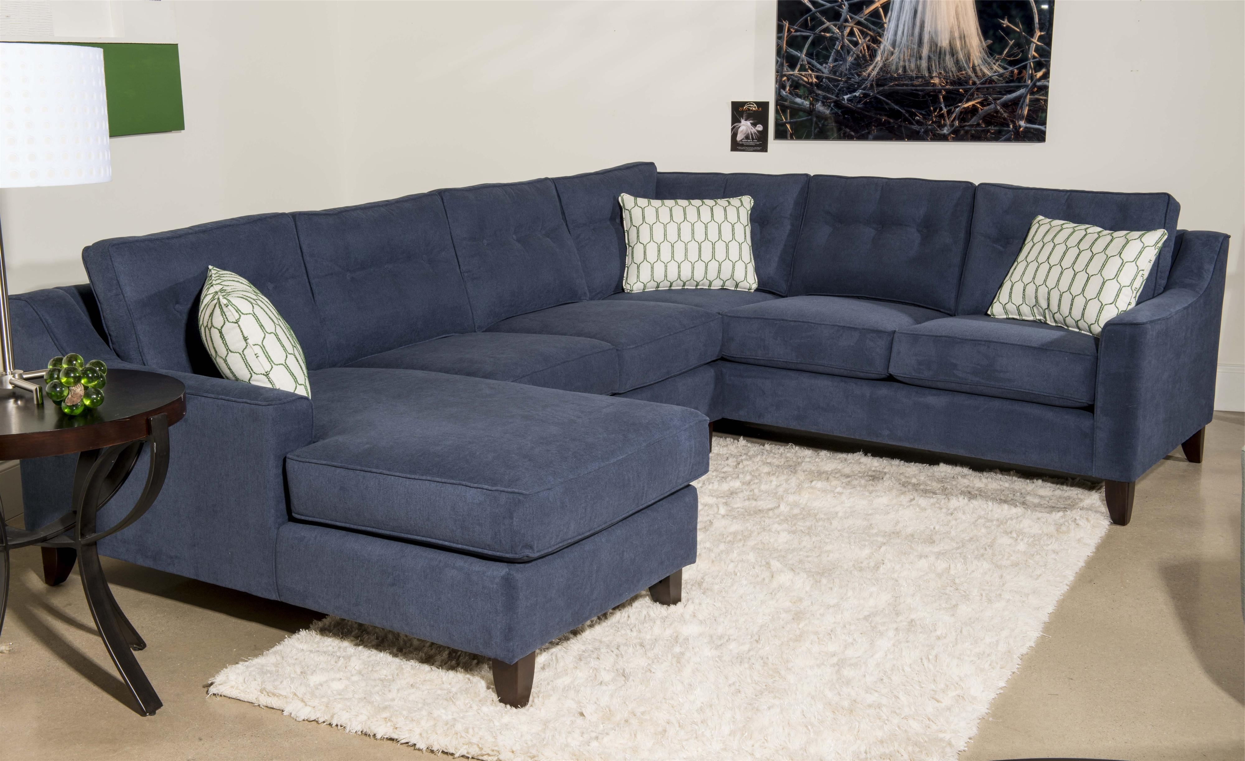 Klaussner Audrina Contemporary 3 Piece Sectional Sofa With Chaise Inside Most Recently Released Sectional Chaise Sofas (Gallery 7 of 15)