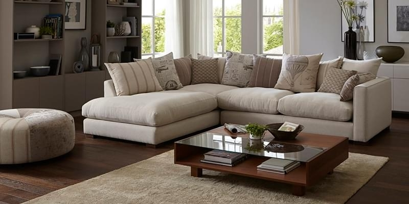 L Shaped Sofa Set Cream — The Kienandsweet Furnitures : L Shaped With 2017 L Shaped Sofas (View 6 of 10)