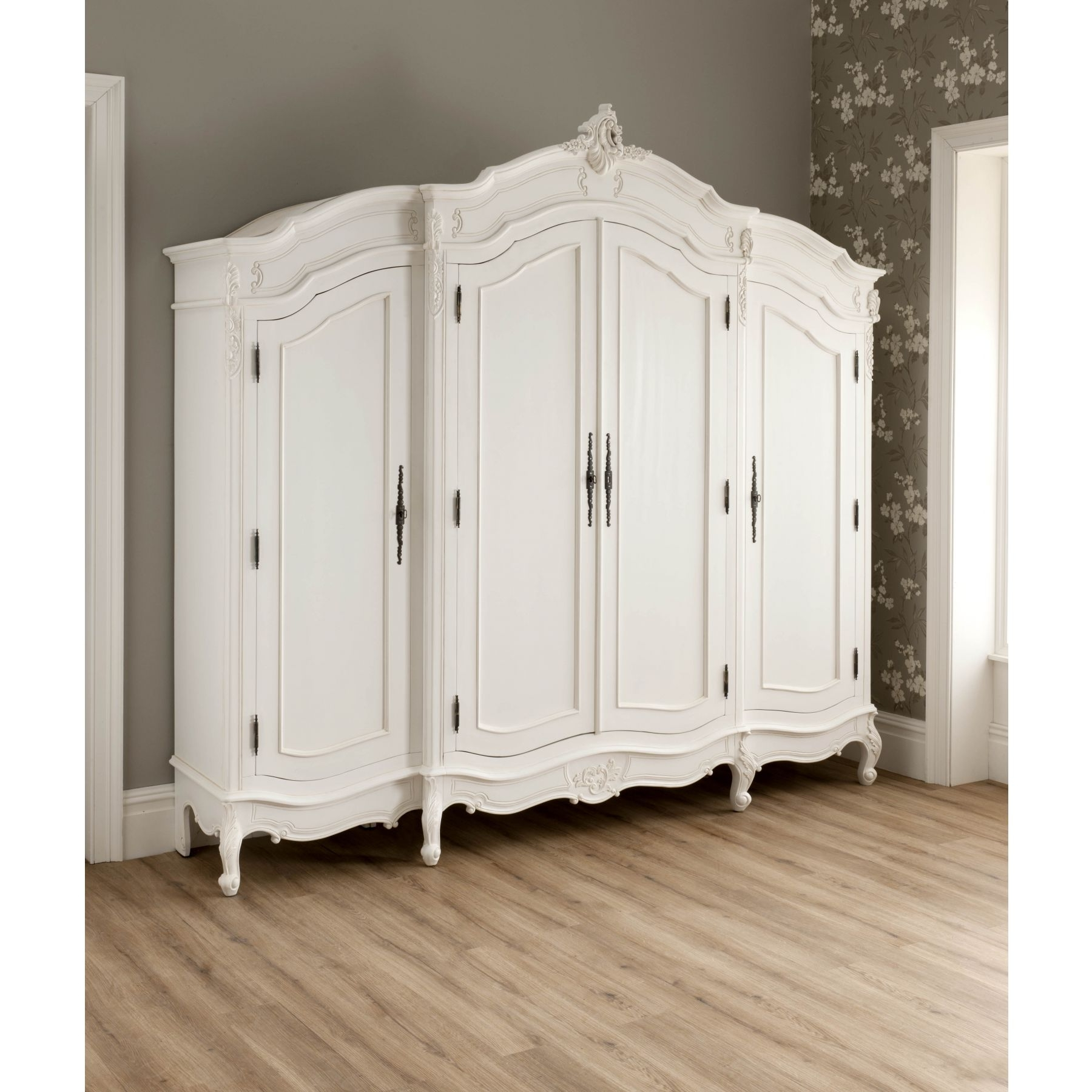 La Rochelle Antique French Wardrobe Working Well Alongside Our Within Trendy Shabby Chic White Wardrobes (View 11 of 15)