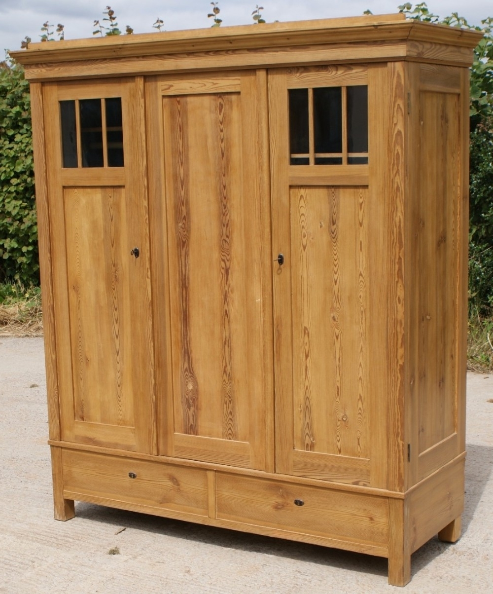 Large Antique Wardrobes For Trendy Early 20Th Century Large Antique German Solid Pine Armoire (View 3 of 15)