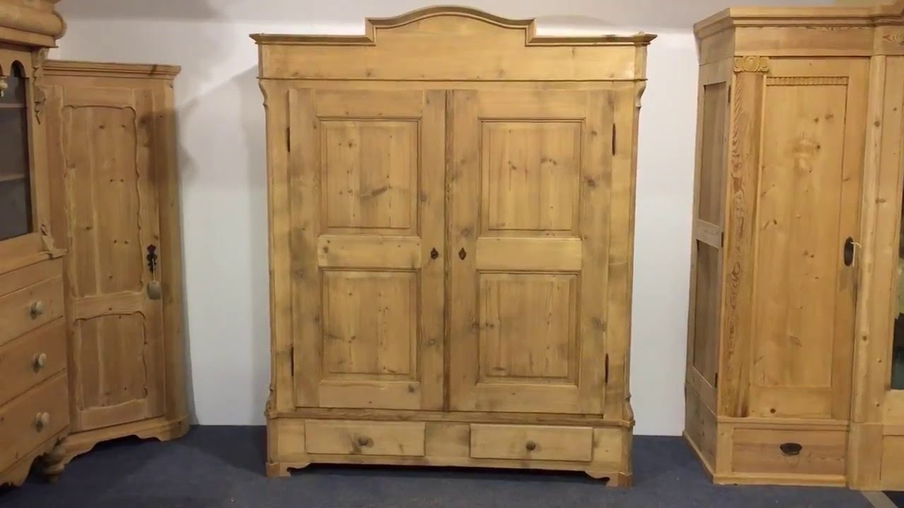 Large Antique Wardrobes Regarding Widely Used Large Antique Pine Wardrobe For Sale (Dismantles) – Pinefinders (View 8 of 15)