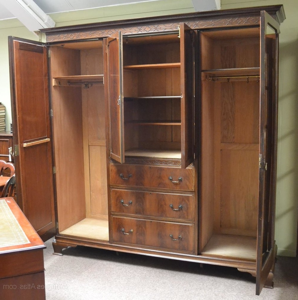 Large Antique Wardrobes Throughout Most Up To Date Large Mahogany Wardrobe C1900 – Antiques Atlas (View 9 of 15)