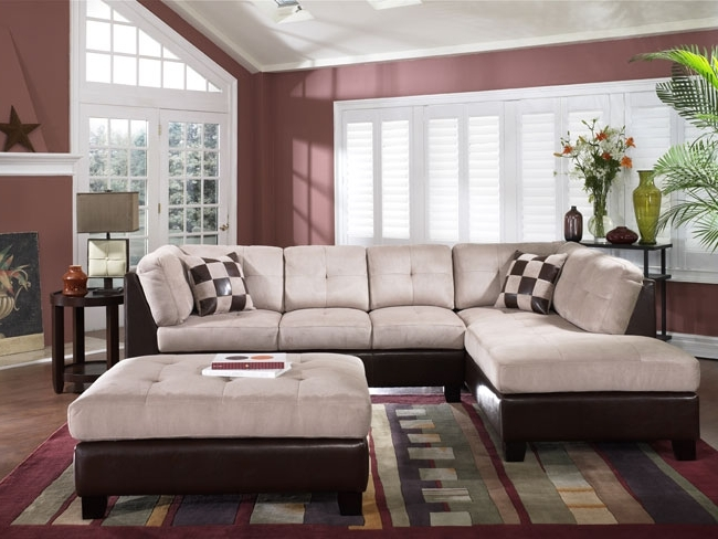 Large Sectional Sofa With Ottoman Living Room (View 4 of 10)