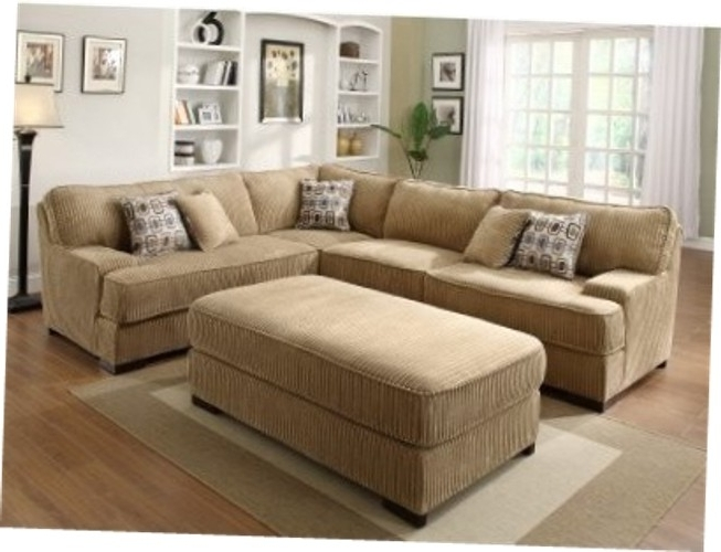 Large Sectional Sofa With Ottoman Reloc Homes With Large Sectional Inside Well Known Sofas With Large Ottoman (View 3 of 10)