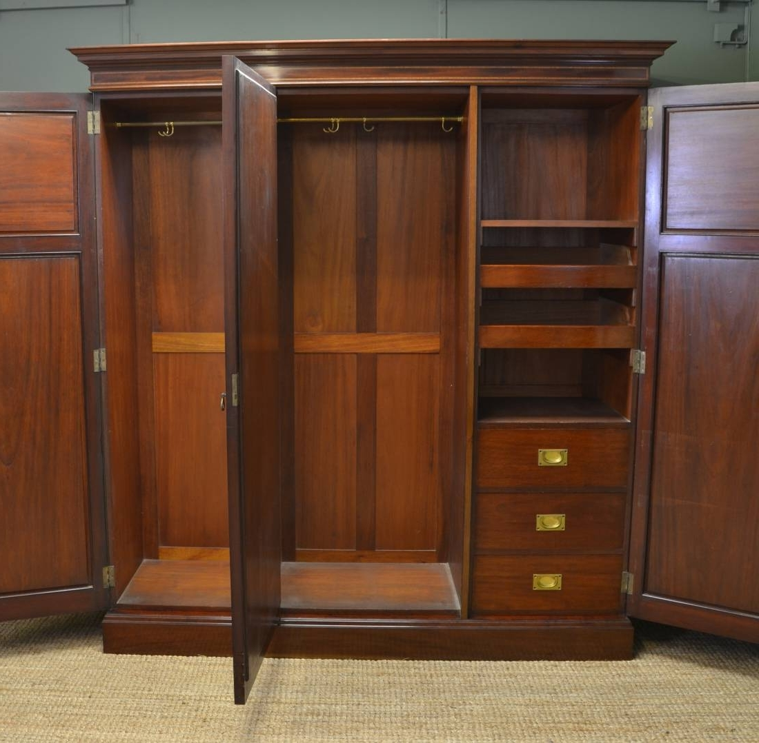 wardrobes georgian suite hanging furniture mahogany wardrobe regency antique sale bedroom for