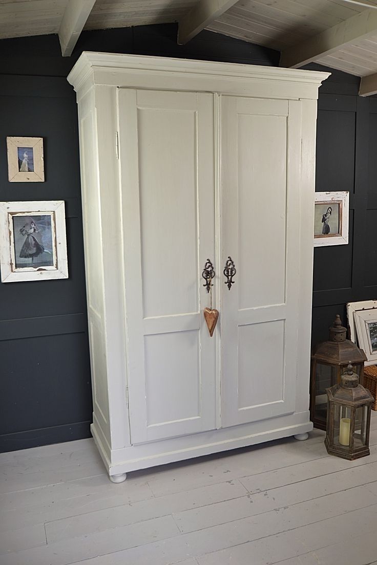 Large White Shabby Chic Wardrobe Freestanding Wardrobes Sliding Inside Favorite Shabby Chic Pine Wardrobes (View 8 of 15)