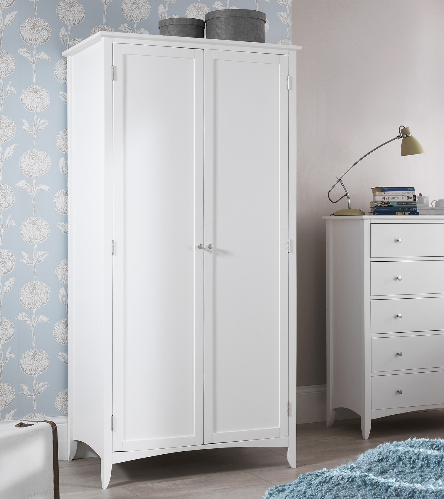 Large White Wardrobes With Drawers Intended For Popular Edward Hopper White Double Wardrobe, Quality Large Wardrobe, Shelf (View 7 of 15)
