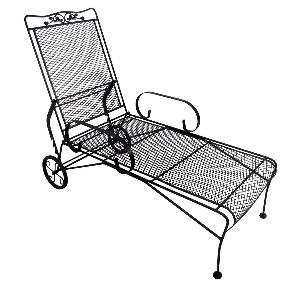 Latest 15 Best Wrought Iron Outdoor Chaise Lounge Chairs In Wrought Iron Chaise Lounges (View 14 of 15)