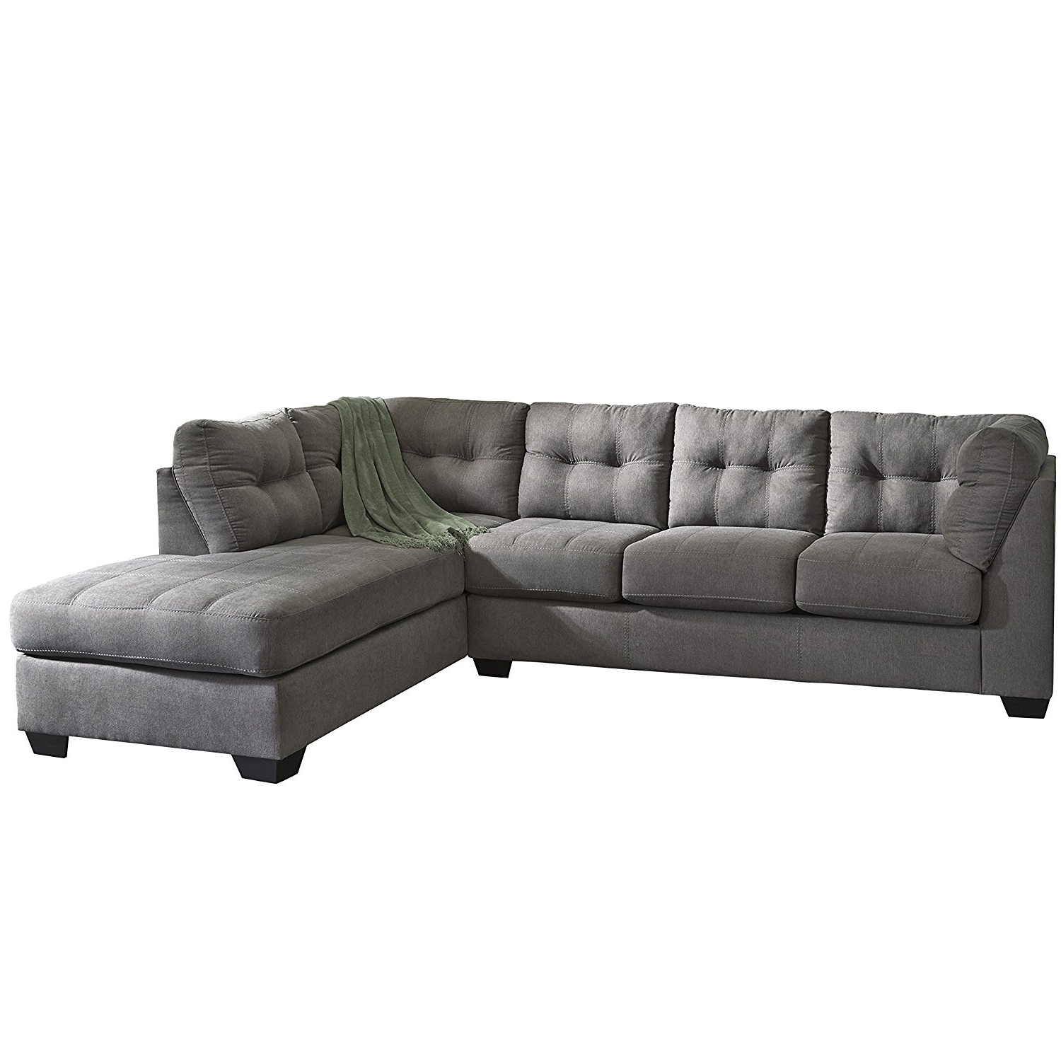 Latest Amazon: Flash Furniture Benchcraft Maier Sectional With Right For Charcoal Sectionals With Chaise (View 9 of 15)