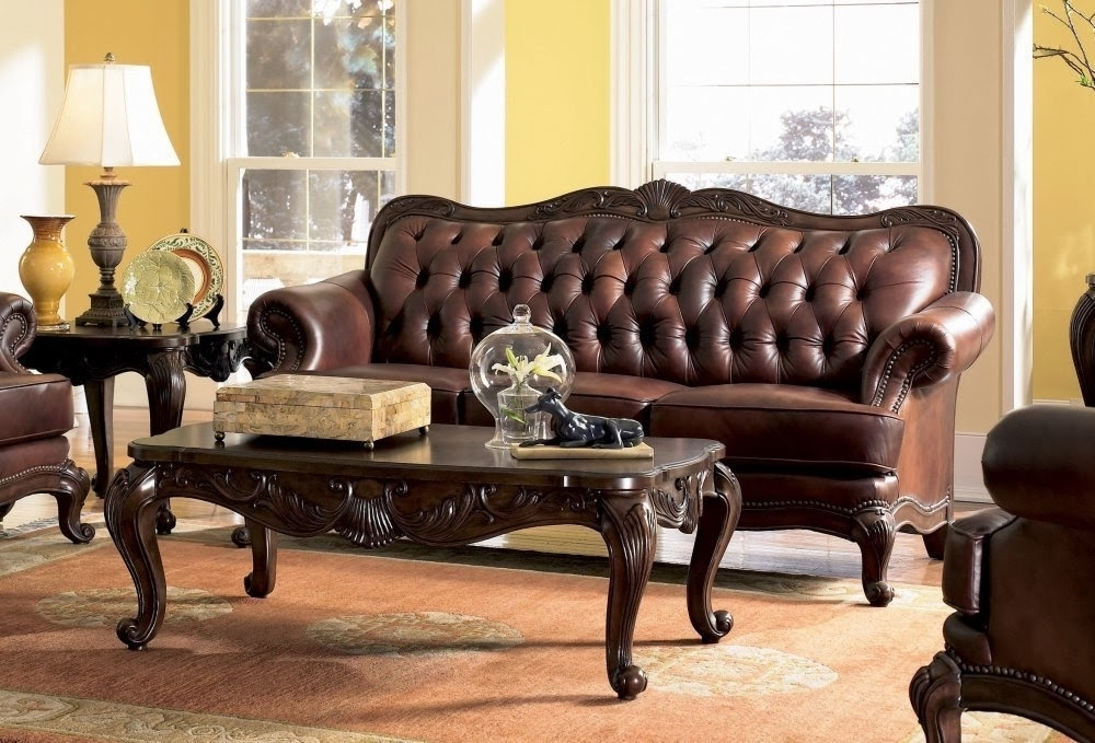 Latest Antique Victorian Sofa Set: Victorian Leather Sofa Throughout Victorian Leather Sofas (View 3 of 10)