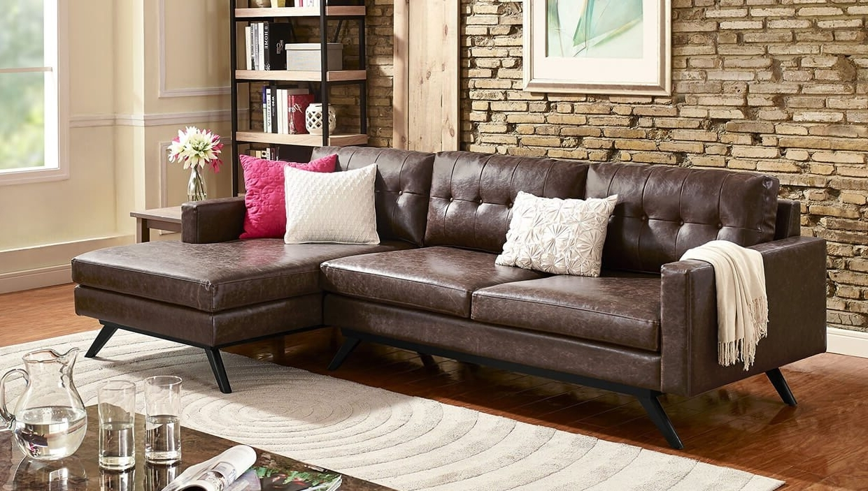 Latest Best Sectional Sofas For Small Spaces – Overstock Inside Small Sectional Sofas With Chaise (View 8 of 15)