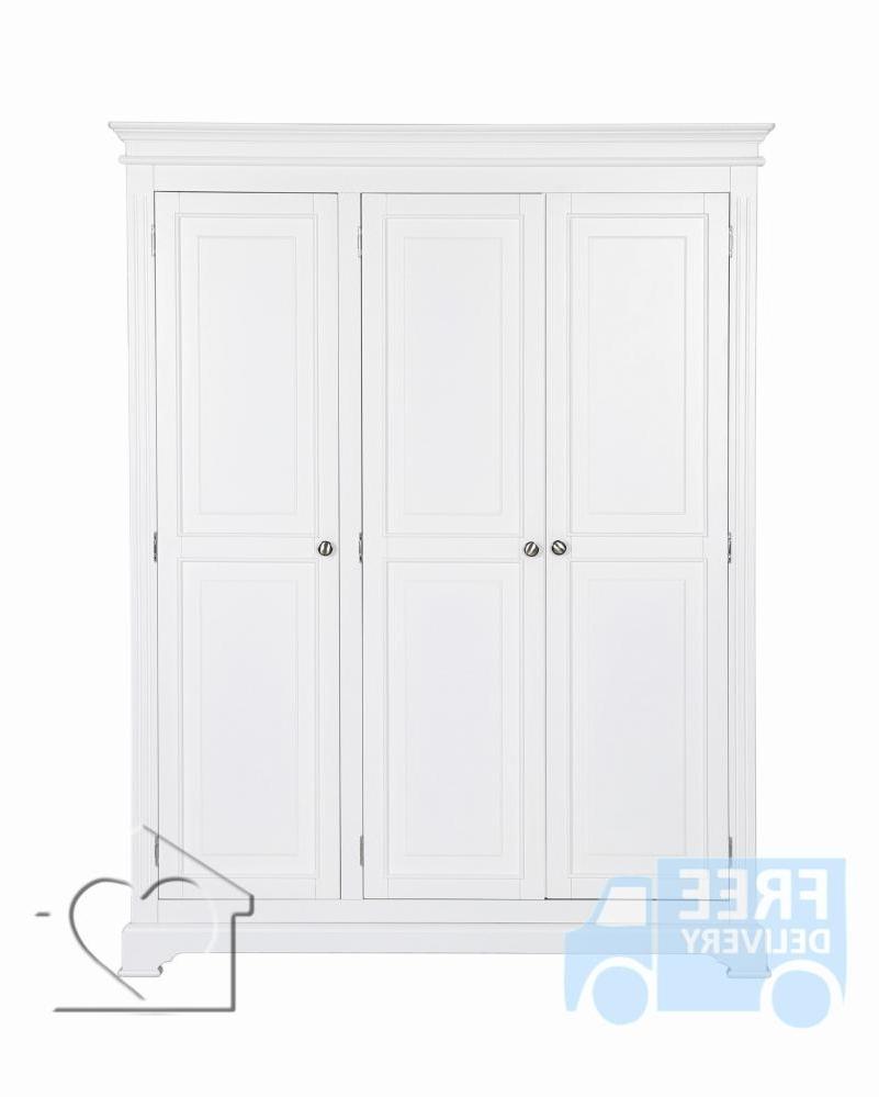 Latest Bramble White 3 Door Wardrobe – £ (View 10 of 15)