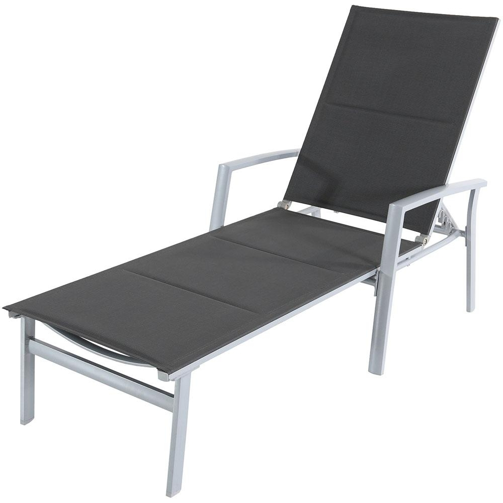 Latest Cambridge Aluminum Outdoor Chaise Lounge With Padded Sling In Gray With Sling Chaise Lounge Chairs For Outdoor (View 5 of 15)