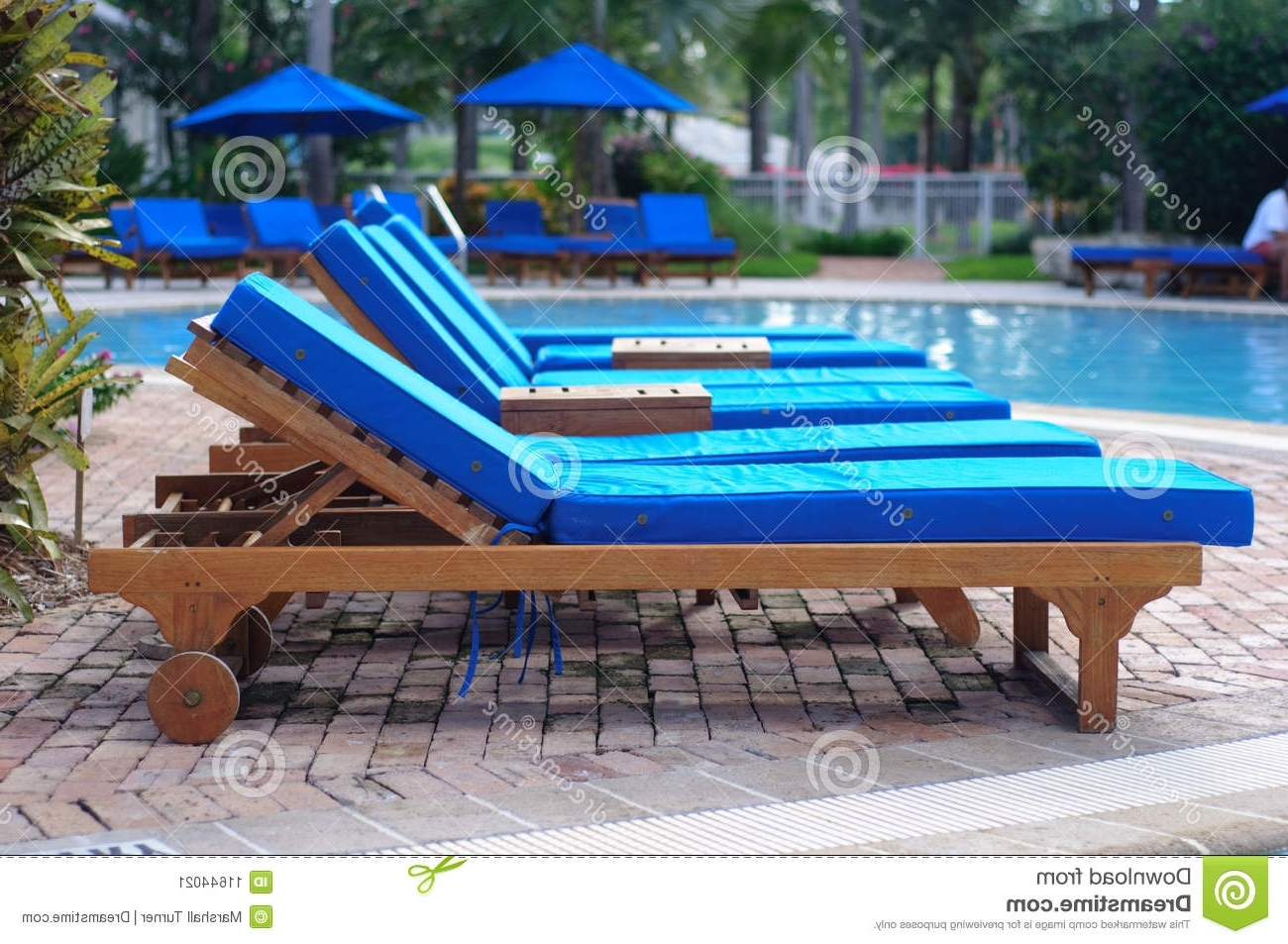 Latest Chaise Lounge Chairs For Poolside Throughout Chaise Lounge Chairsthe Pool Stock Image – Image Of Holiday (View 5 of 15)