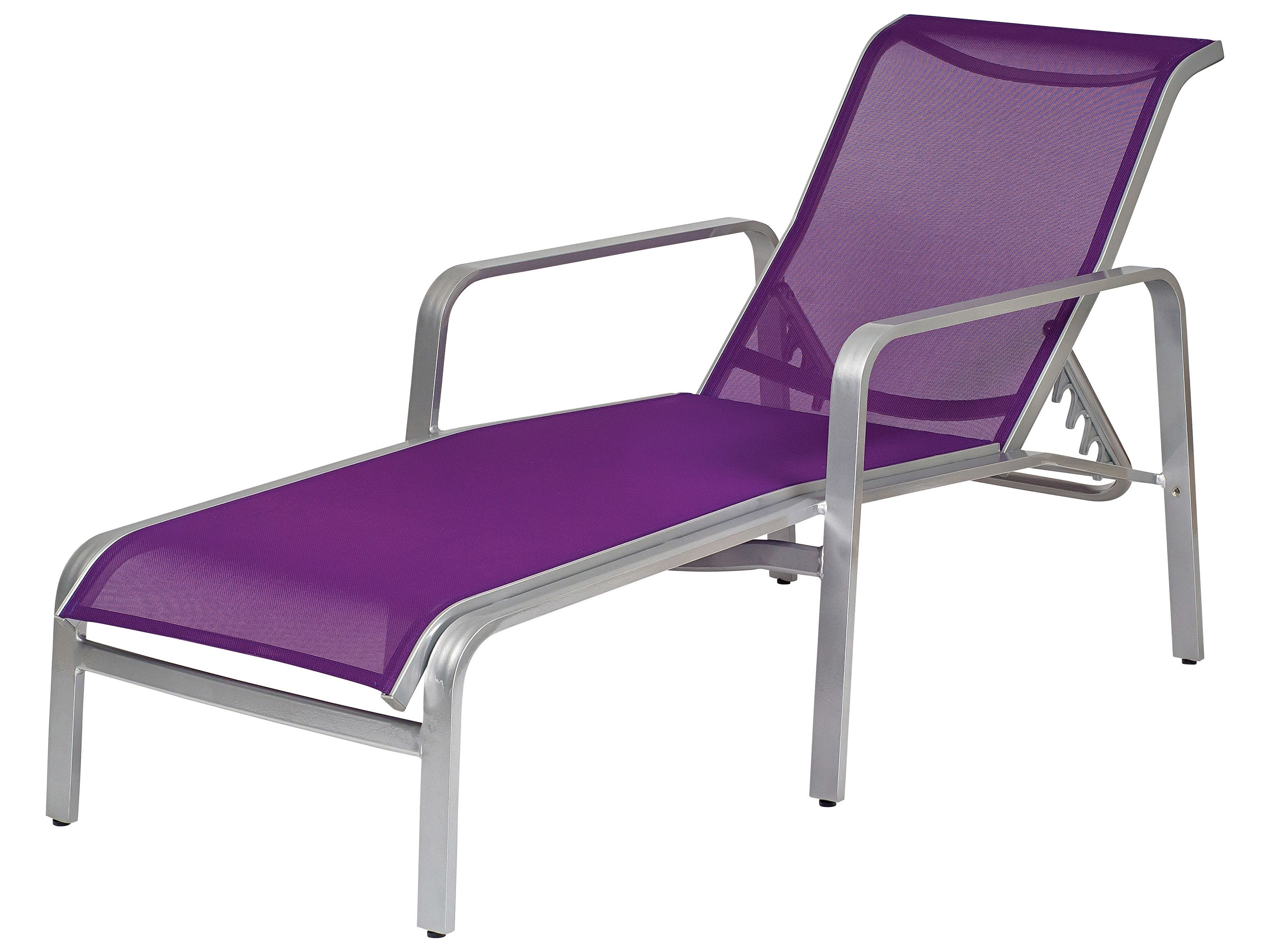 Latest Chaise Lounge Sling Chairs Within Woodard Landings Sling Aluminum Stackable Chaise Lounge (View 8 of 15)