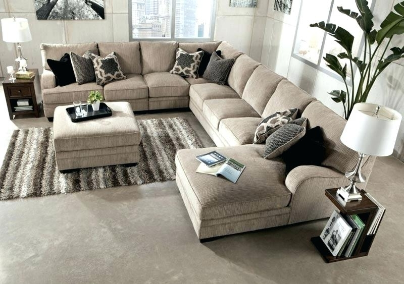 Latest Chaise Lounge With Ottoman Excellent Large Sectional Sofa With For Sectional Sofas With Ottoman (View 4 of 16)