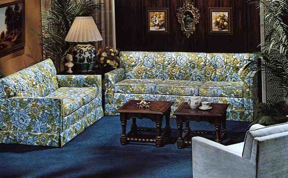 Latest Chintz Sofas Throughout 10 Kroehler Sofas And Loveseats From 1976 Retro Renovation Chintz (View 7 of 10)