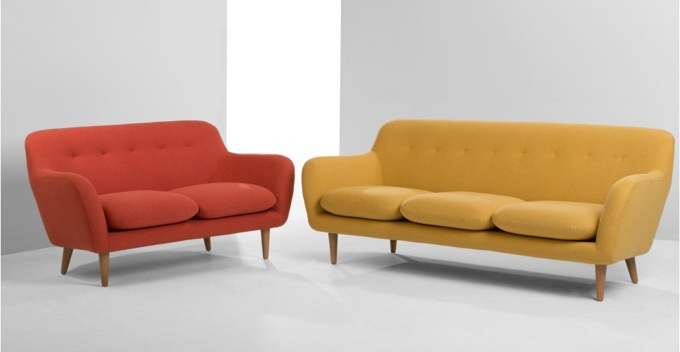 Latest Dylan 3 Seater Sofa, Retro Orange (View 3 of 10)