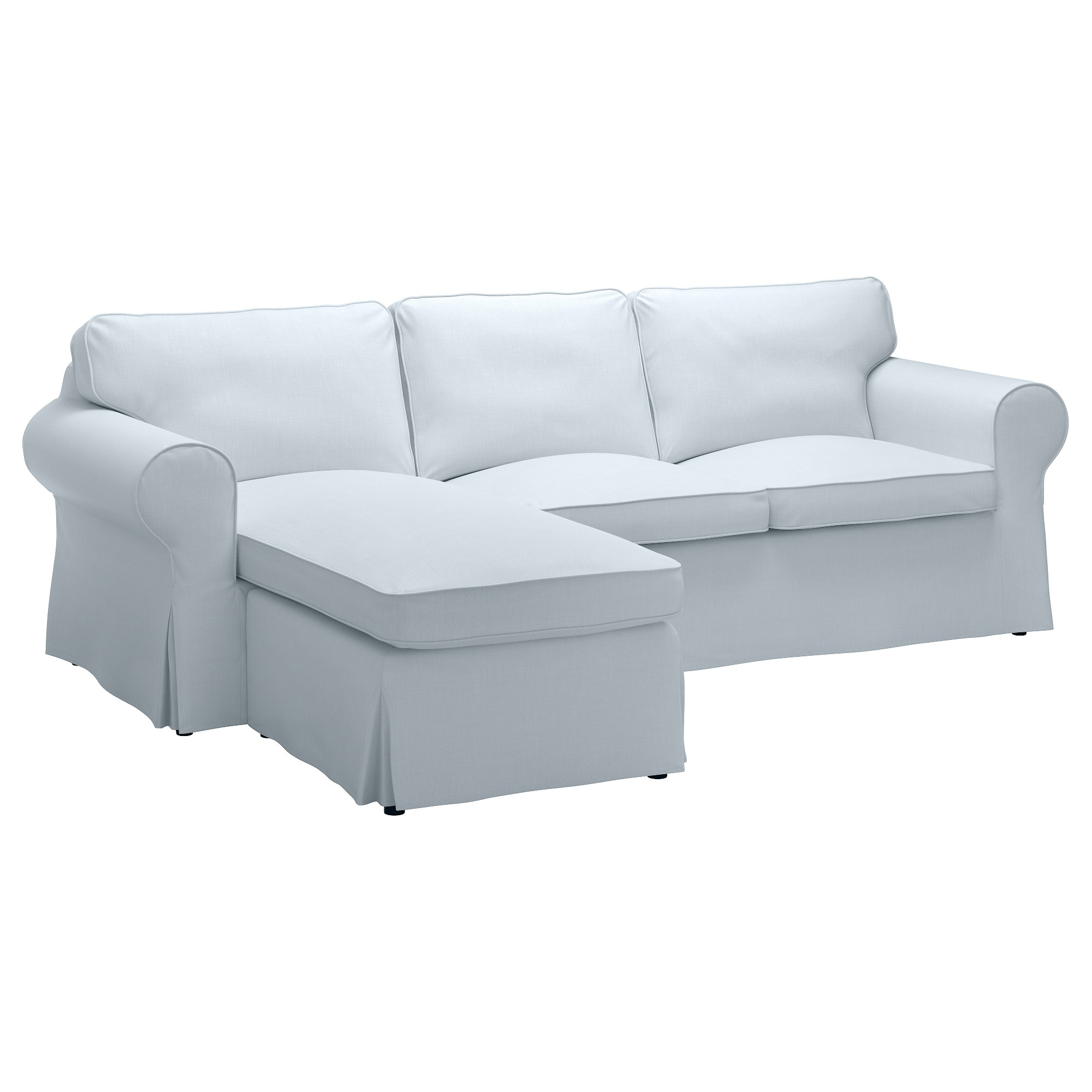 Latest Ektorp Sofa – With Chaise/nordvalla Light Blue – Ikea Within Ikea Sofa Beds With Chaise (View 13 of 15)
