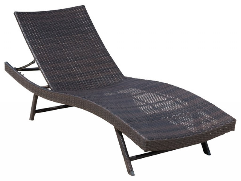 Latest Eliana Outdoor Brown Wicker Chaise Lounge Chairs With Brown Wicker Chaise Lounge Chair • Lounge Chairs Ideas (View 4 of 15)