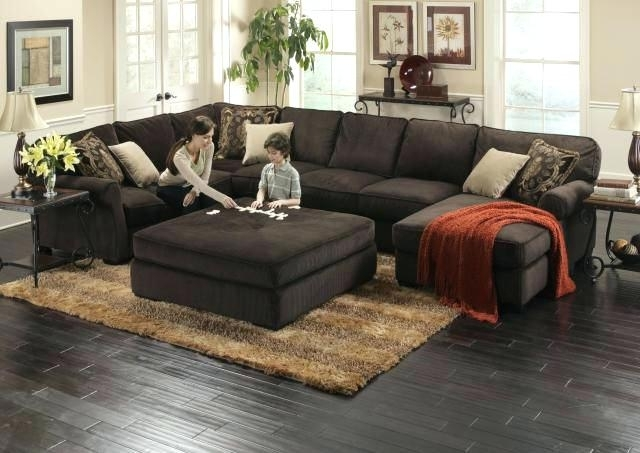 Latest Fabulous Extra Large Sectional Sofa For House Design Deep Feather Inside Sofas With Large Ottoman (View 4 of 10)