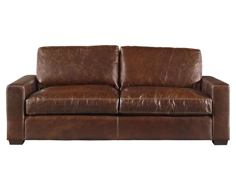Latest Full Grain Leather Sofas Regarding Latitude Run Dansville Two Seat Full Top Grain Leather Sofa (View 7 of 10)